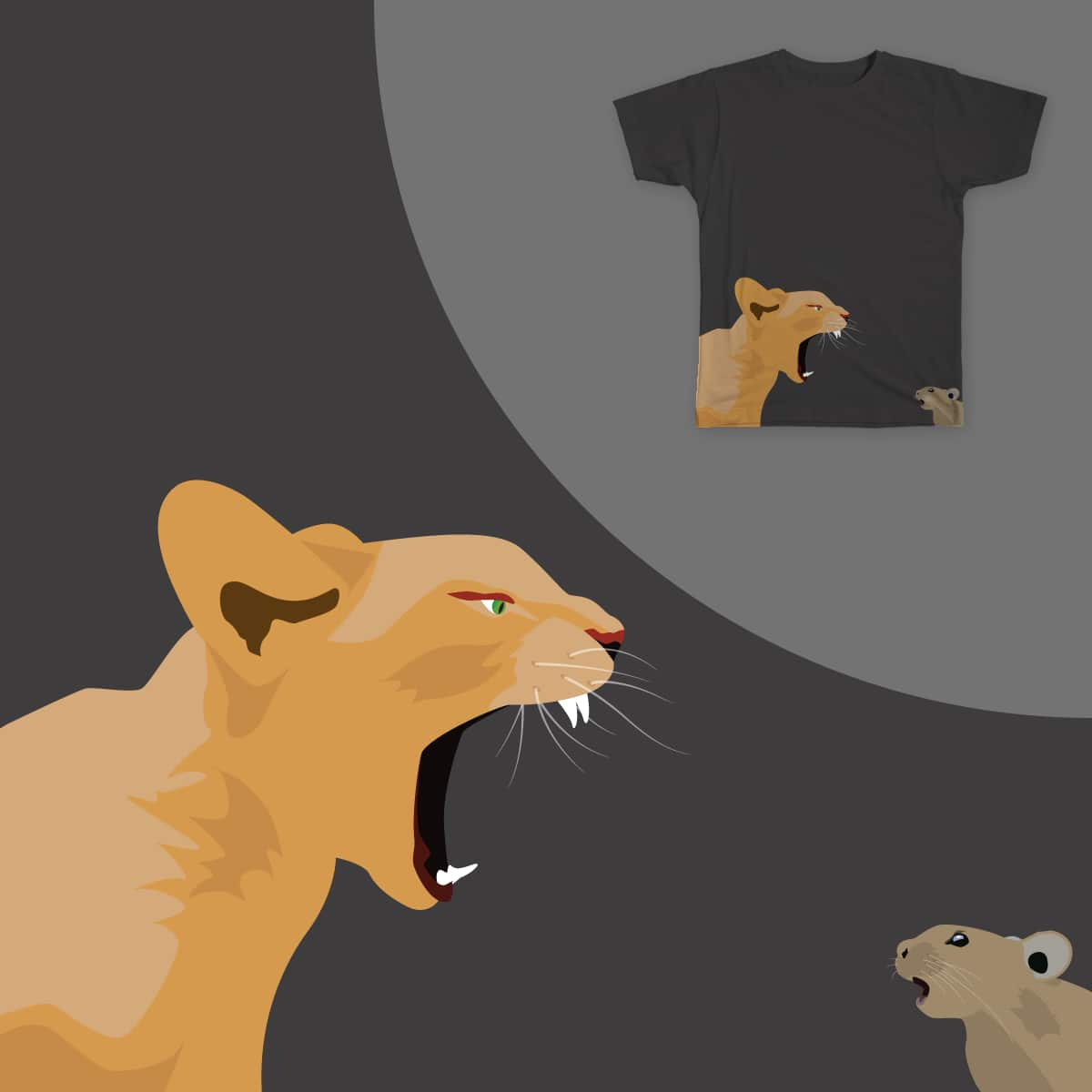 Cat vs. Mouse by ThibaultC on Threadless
