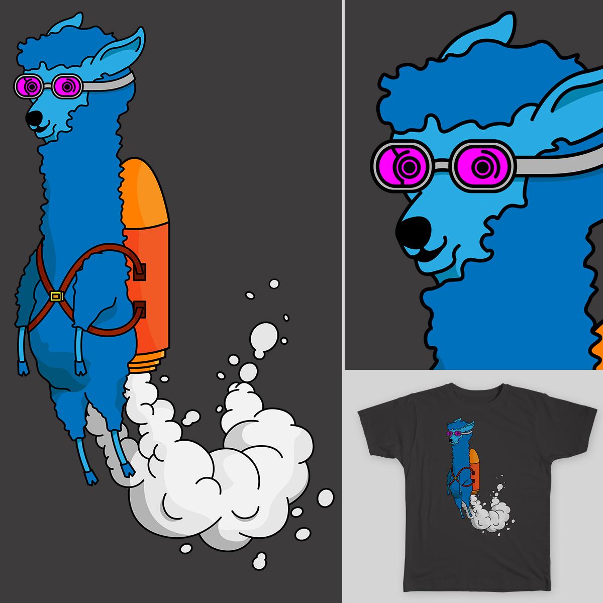 Rocket Llama by Jordan.gonzo on Threadless