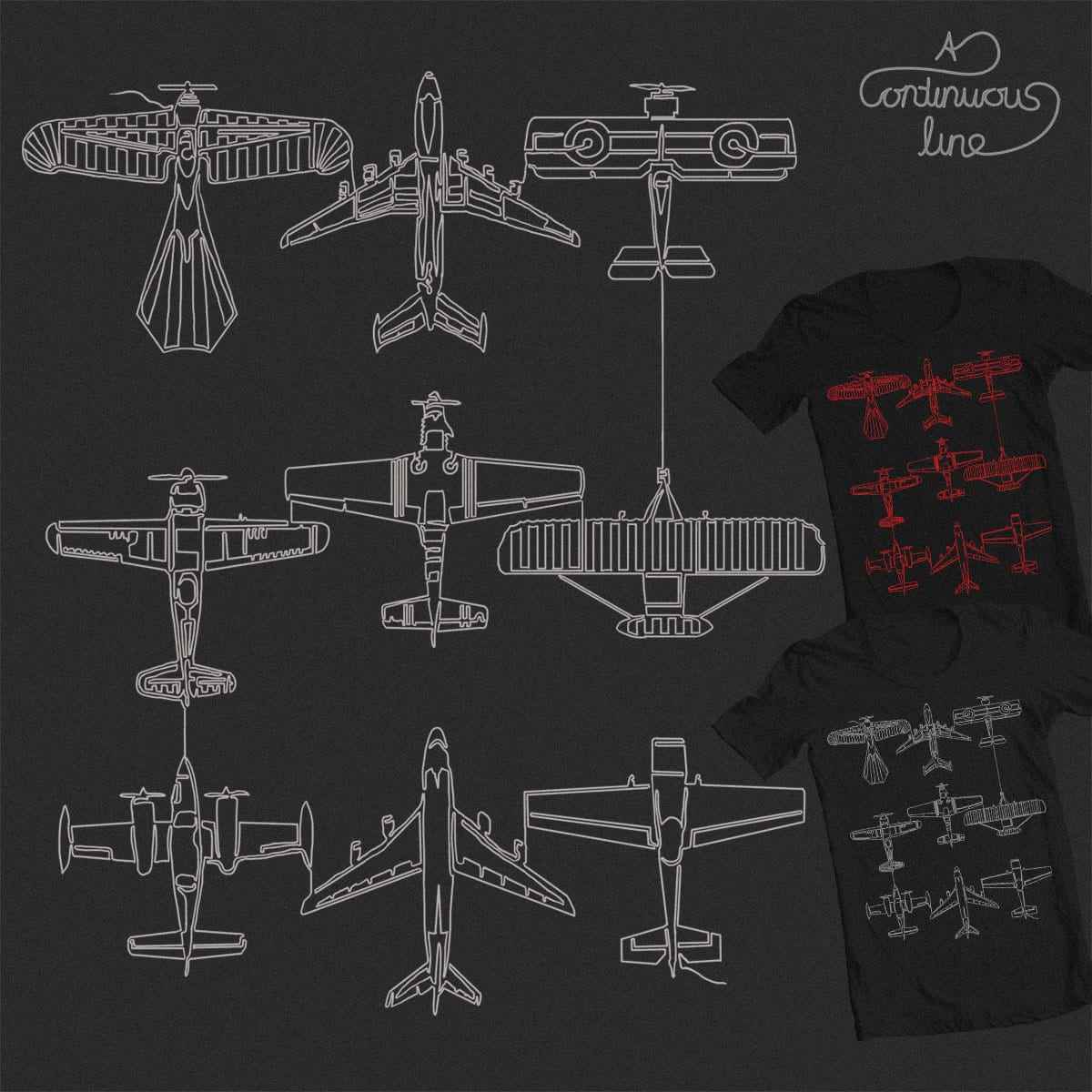 Airline by lugepuar on Threadless