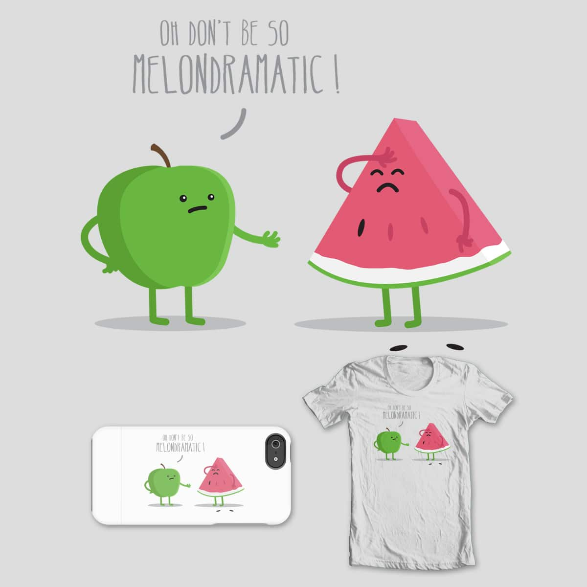 One Distraught Melon by mip1980 on Threadless