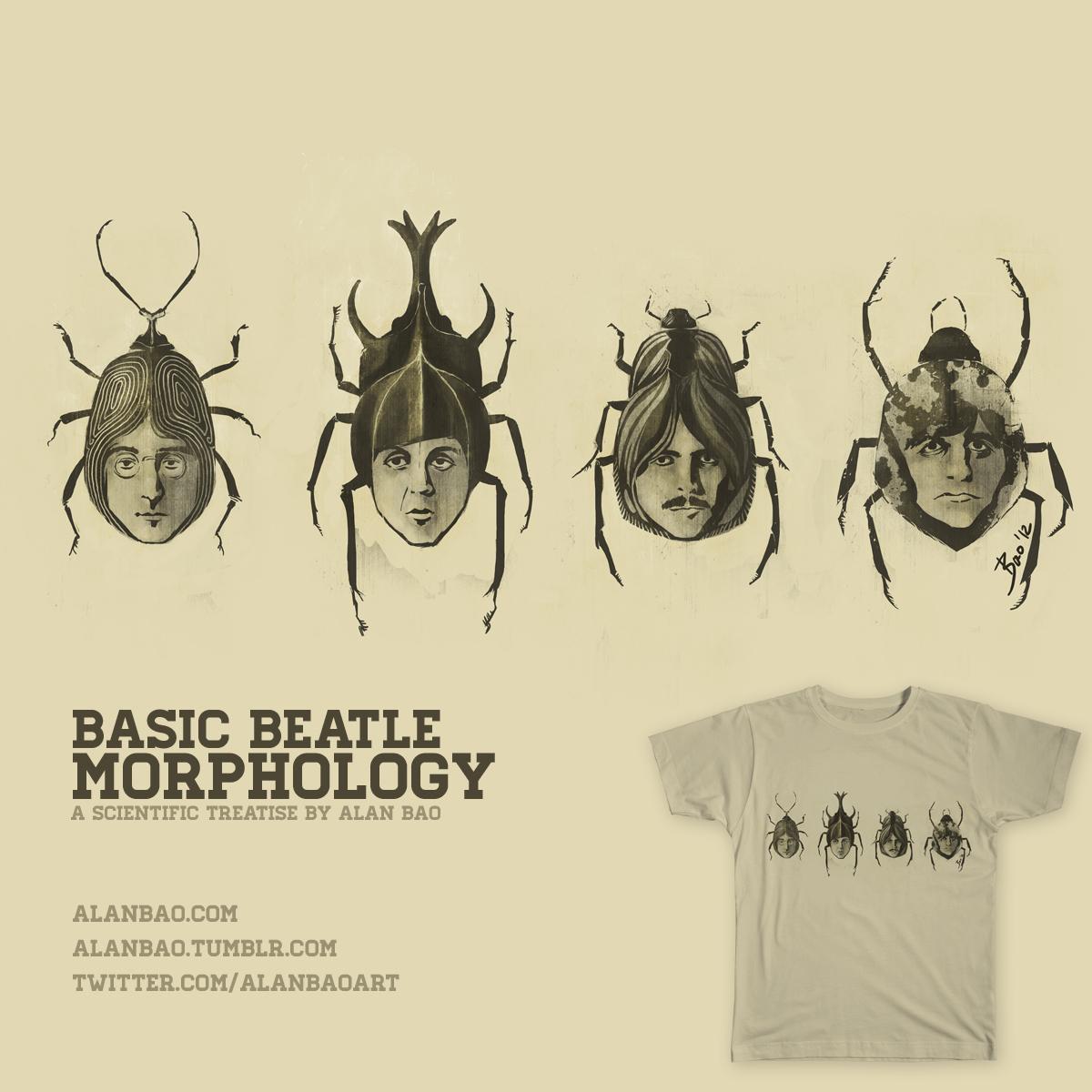 Basic Beatle Morphology by AlanBao on Threadless