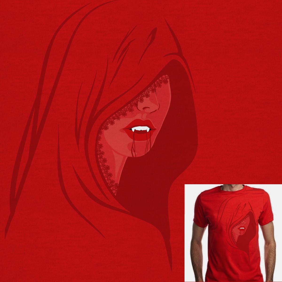 bloody red by badnobe on Threadless