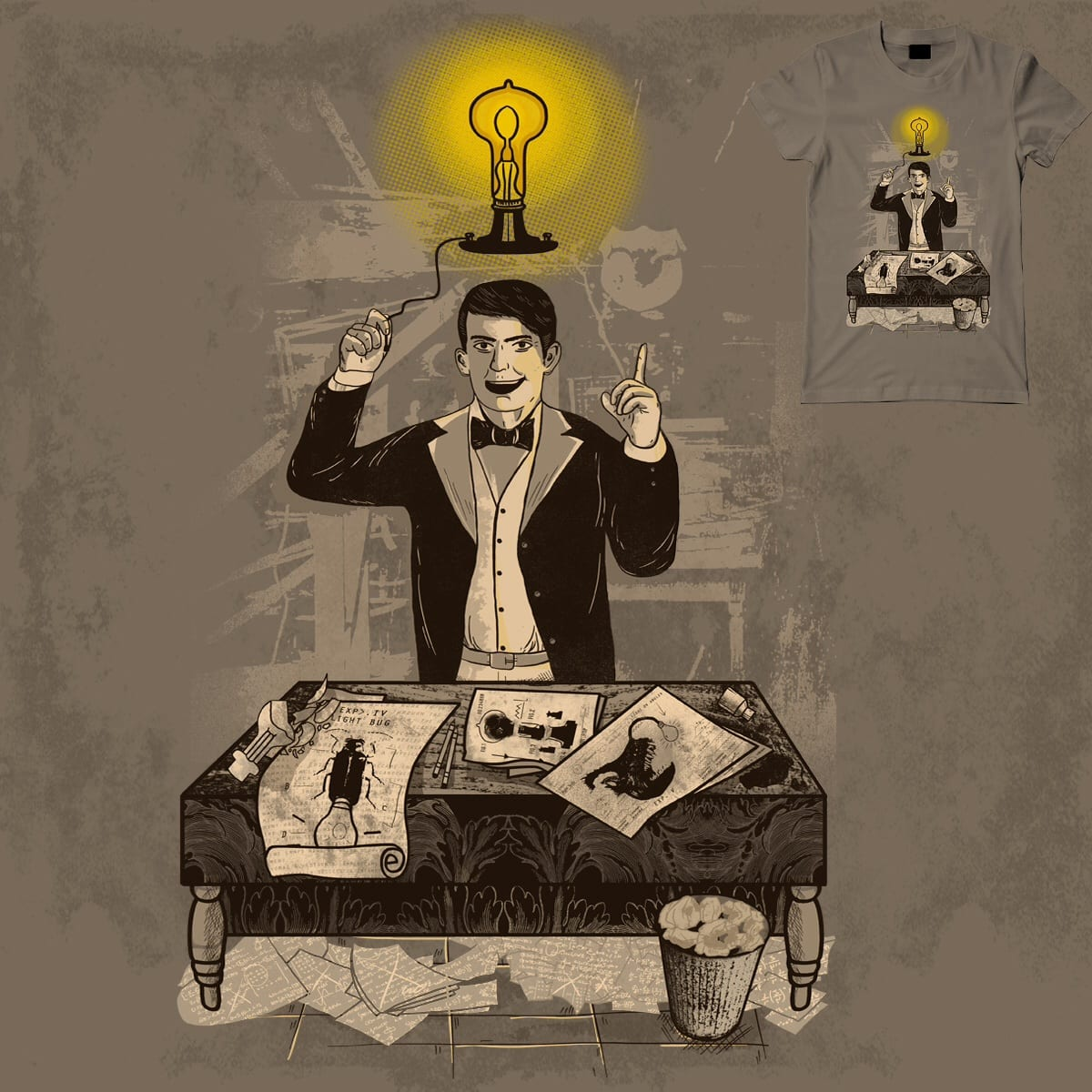 Evolution of a Bright Idea by FRICKINAWESOME and shesmatilda on Threadless