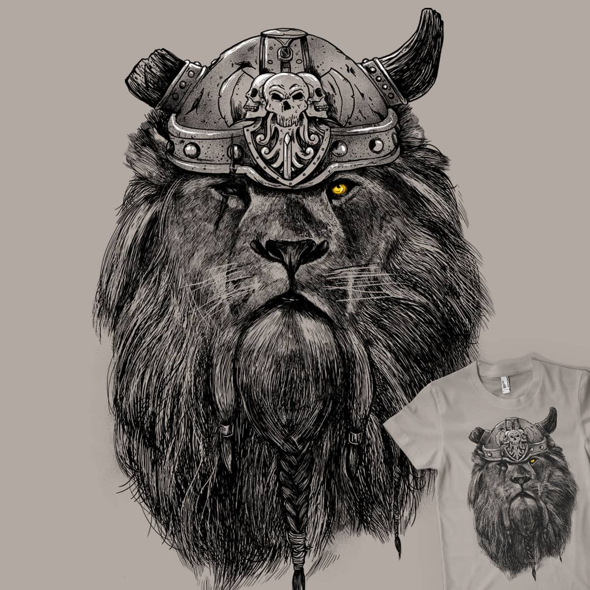 The Eye of the Lion Vi/king by MadKobra on Threadless