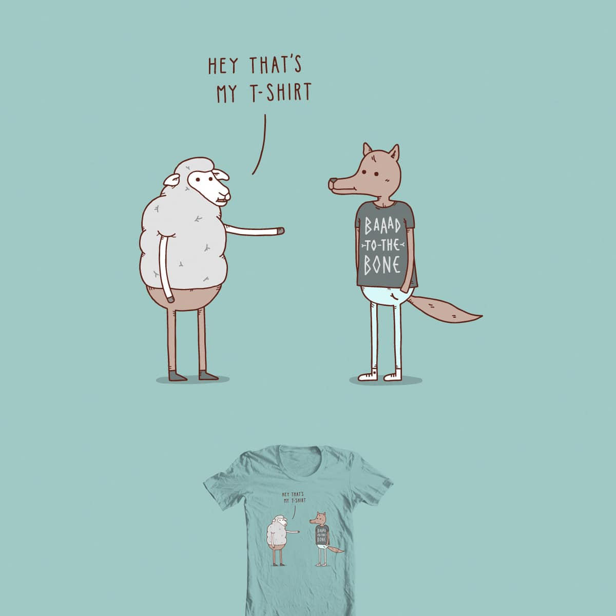 Wolf In Sheep's Clothing by Haasbroek on Threadless