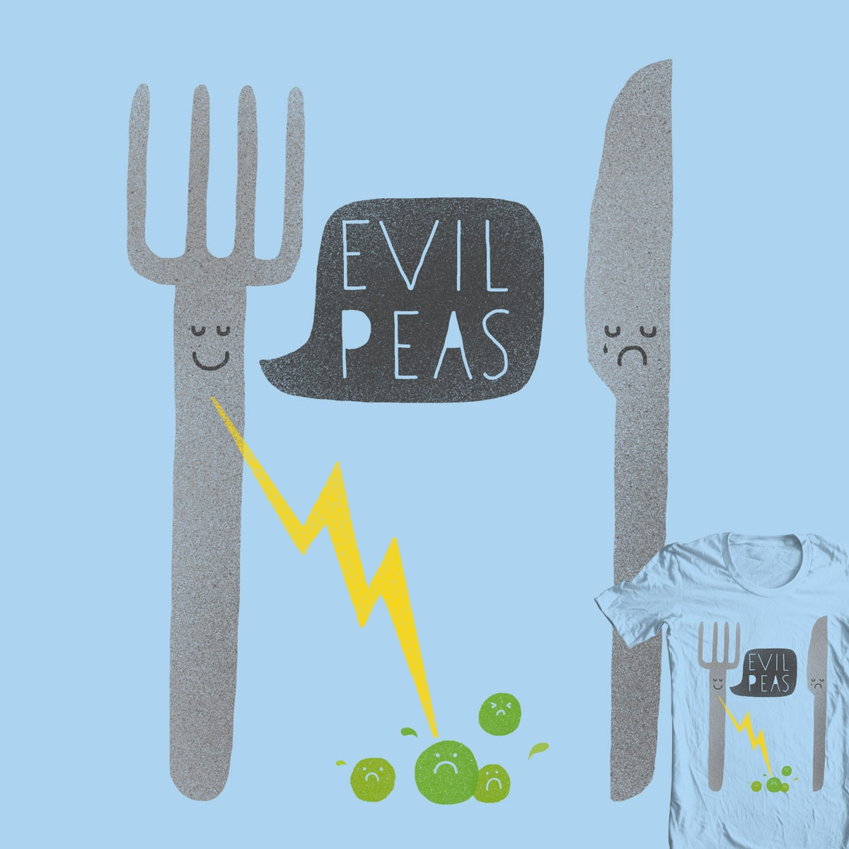 Fork Lightning by Farnell on Threadless