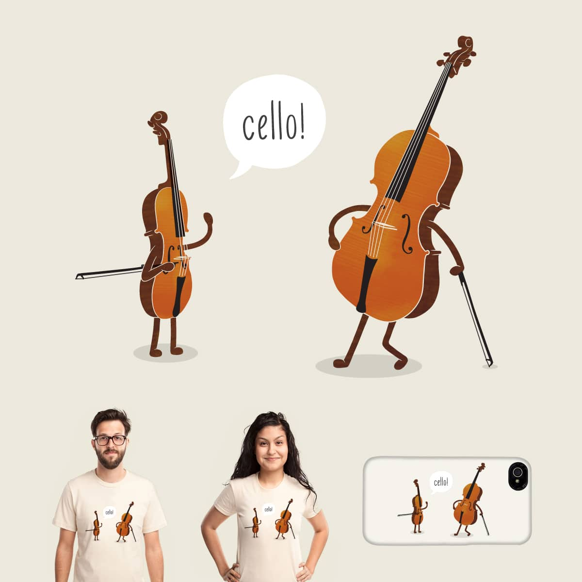 Cello! by melmike on Threadless