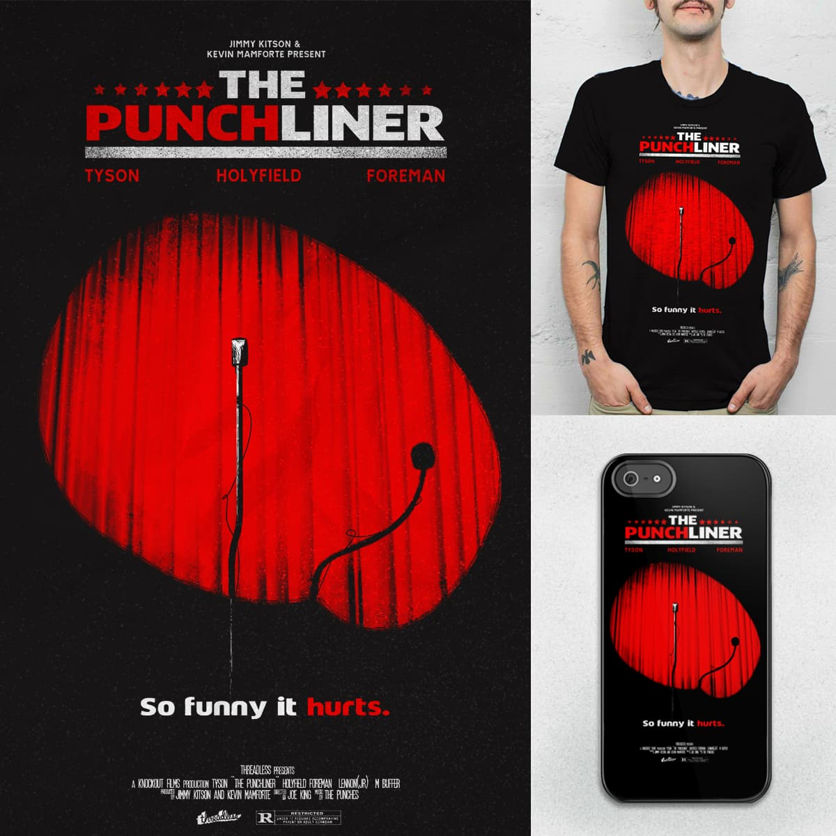 The Punchliner by JIMDAHOUSECAT and halfgotten on Threadless