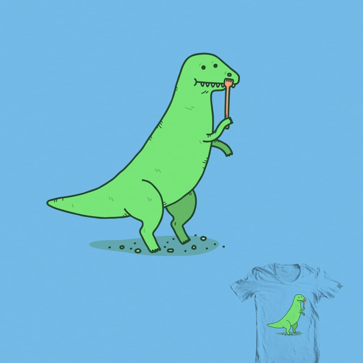 T-Rex Has An Itch by Haasbroek on Threadless