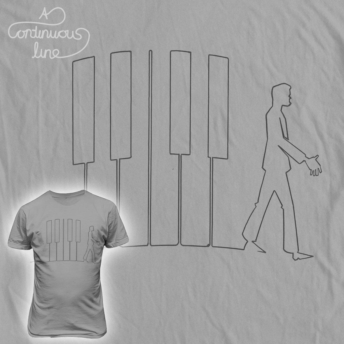 piano man  by chuckpcomics on Threadless
