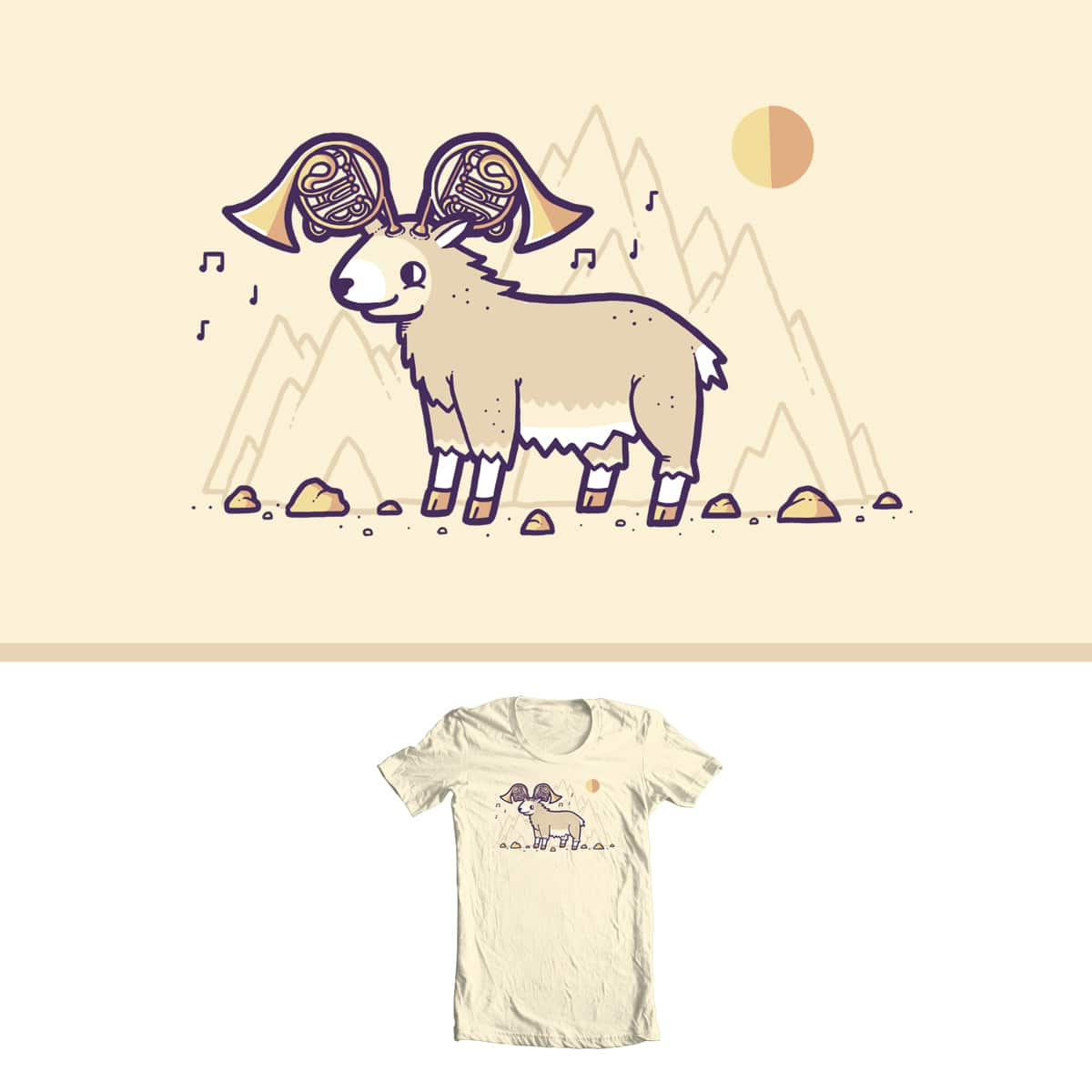 Goat Horns by randyotter3000 on Threadless