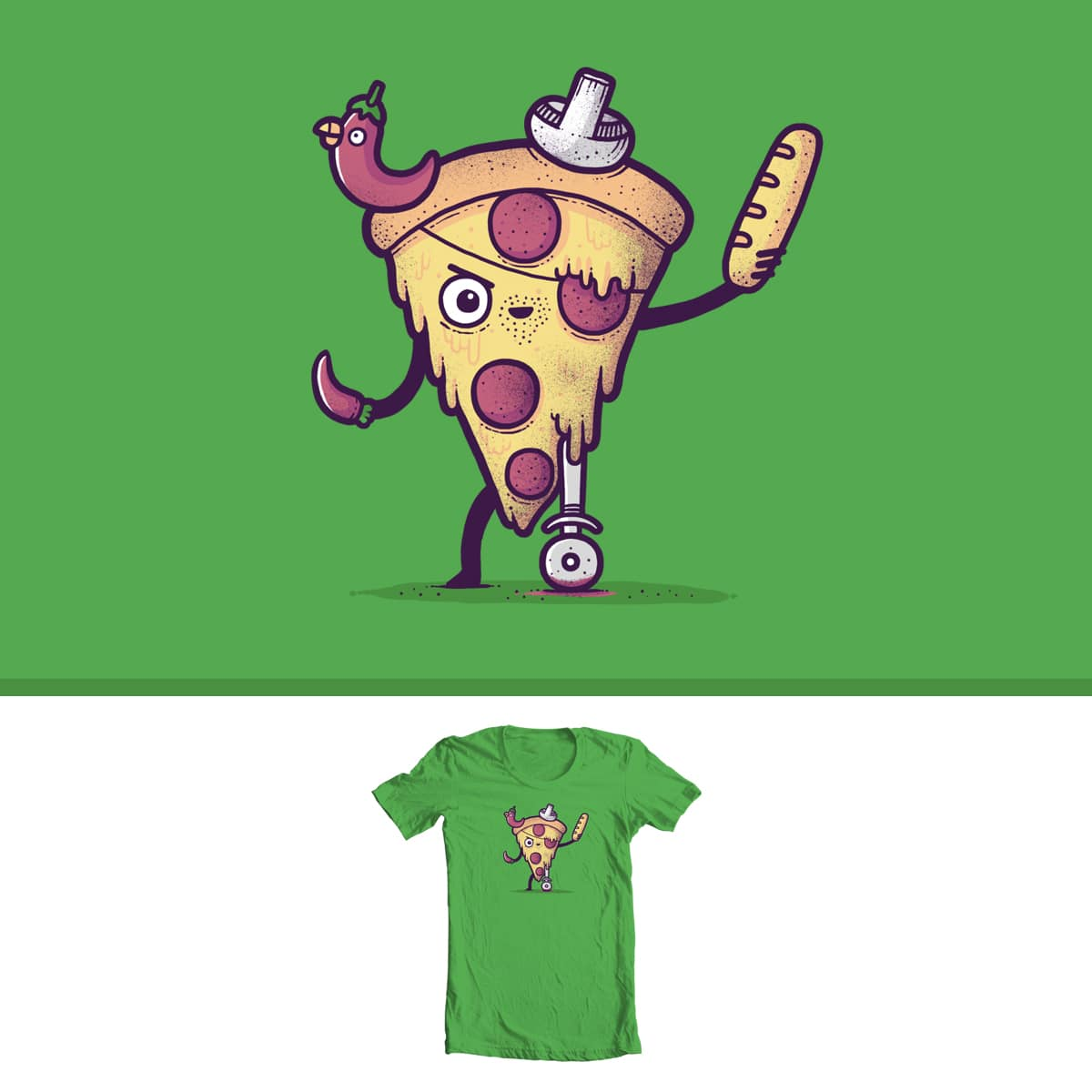 Pizza Pirate by randyotter3000 on Threadless