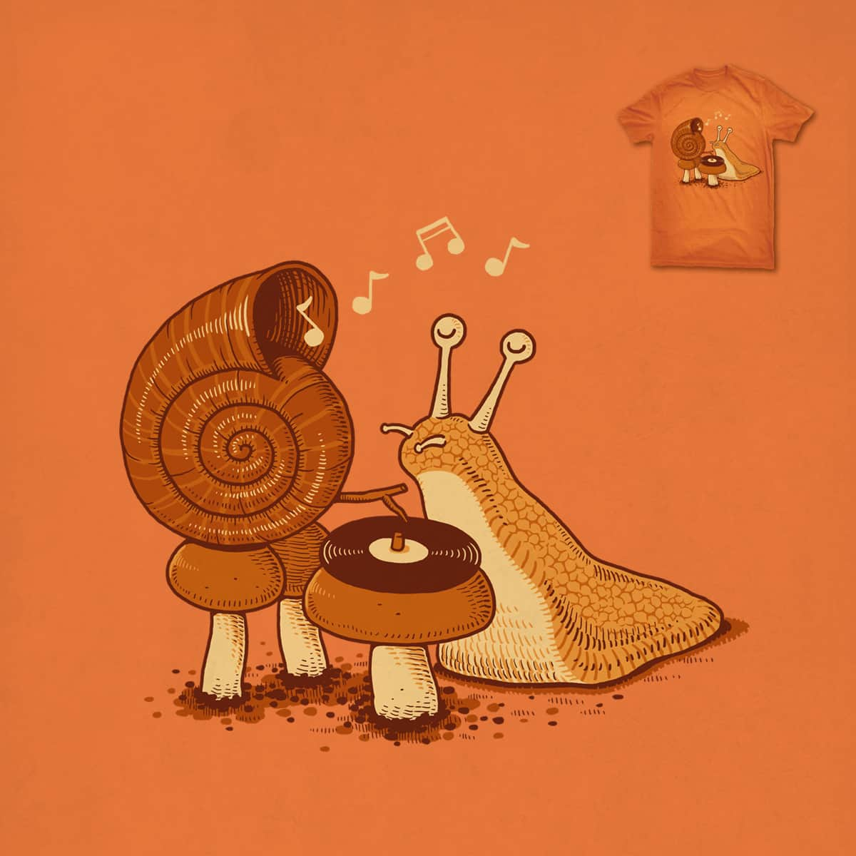 Snail Shell Gramophone by ben chen on Threadless