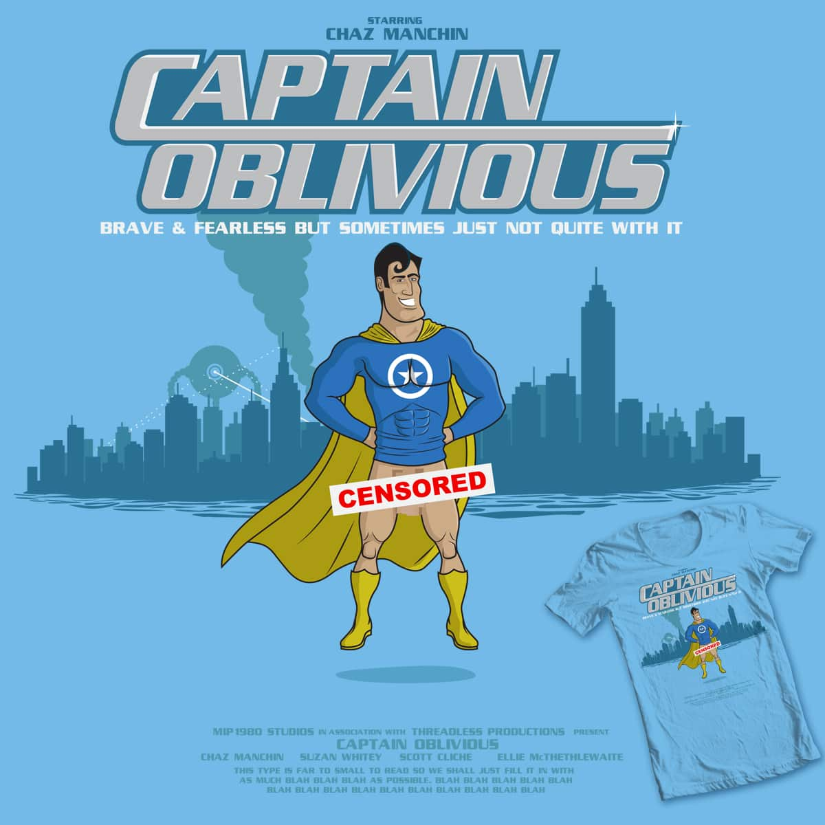 captain oblivious  by mip1980 on Threadless