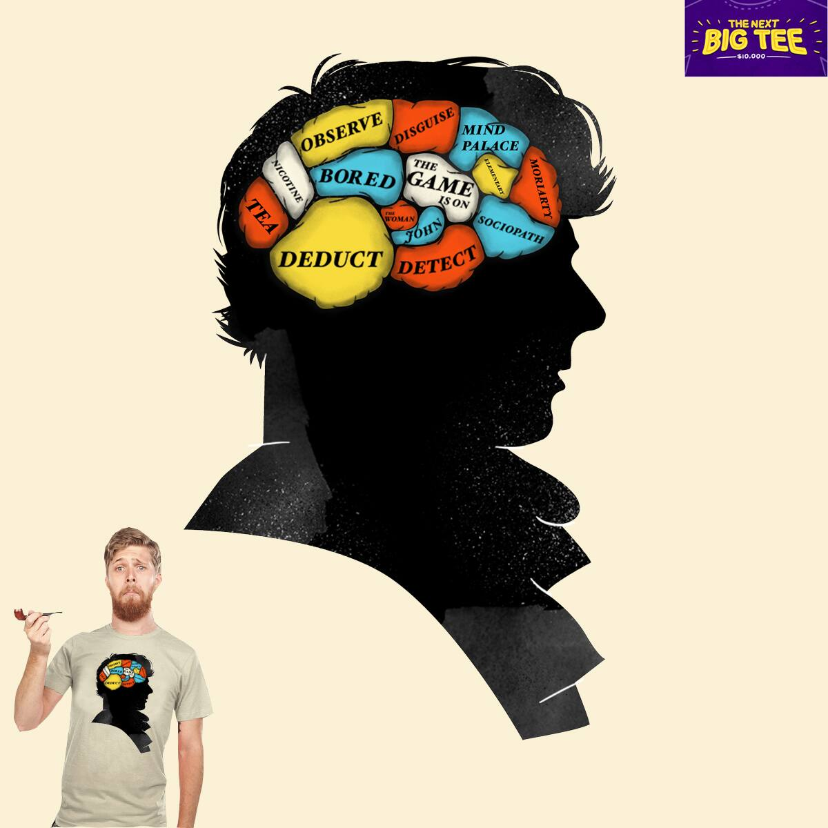 Sherlock Phrenology by Wharton on Threadless