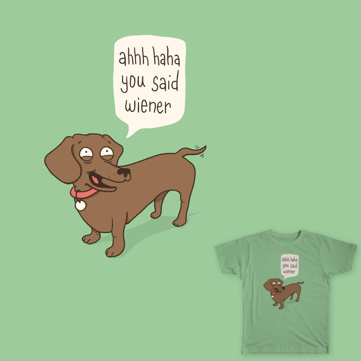 Immature Dachshund by murraymullet on Threadless