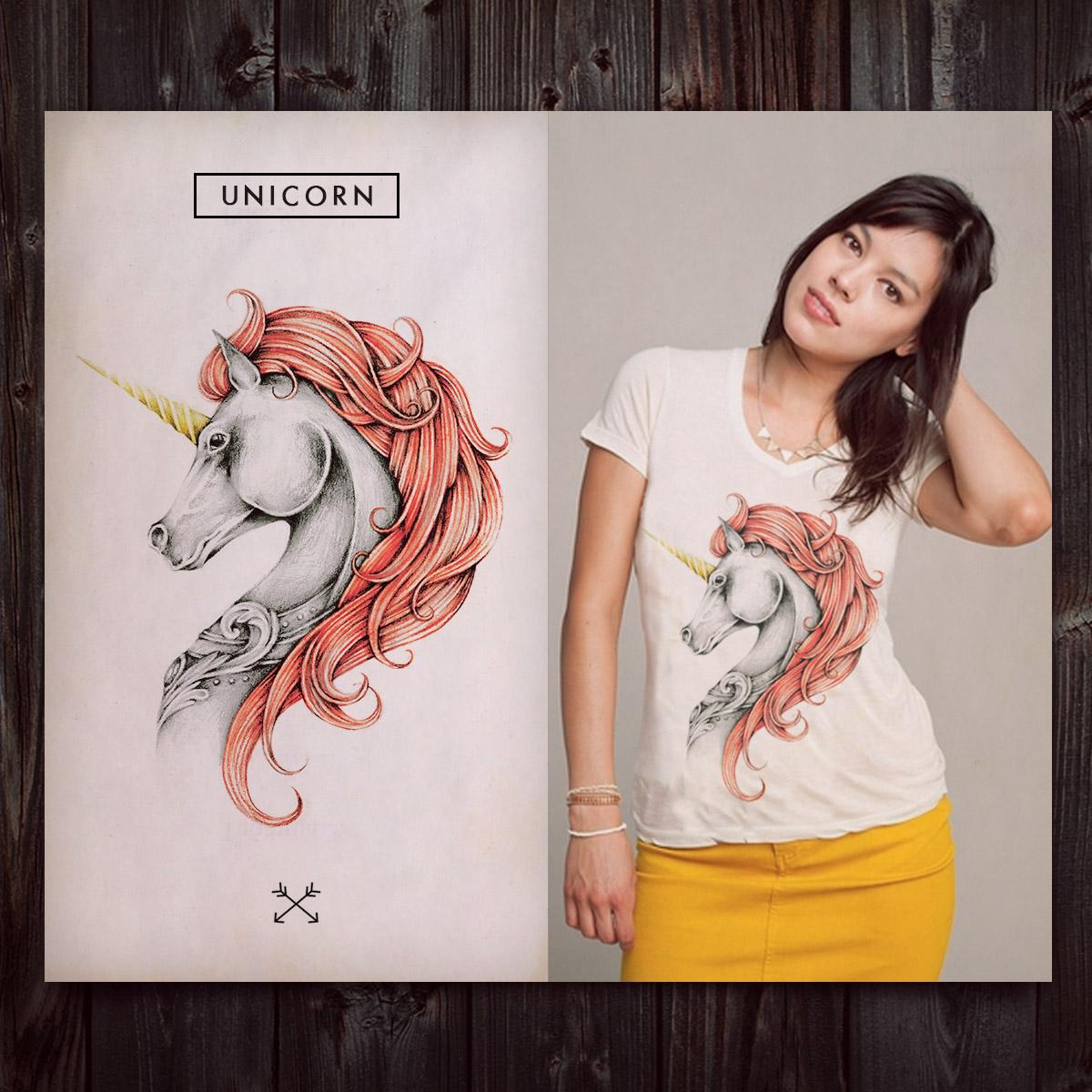 Unicorn by INDZ on Threadless
