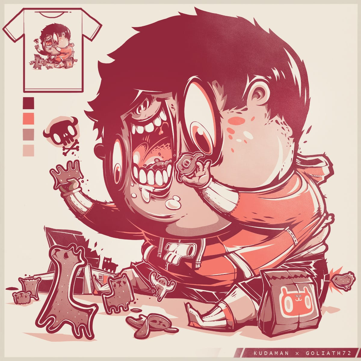 Cookie Prey by Kudaman and goliath72 on Threadless