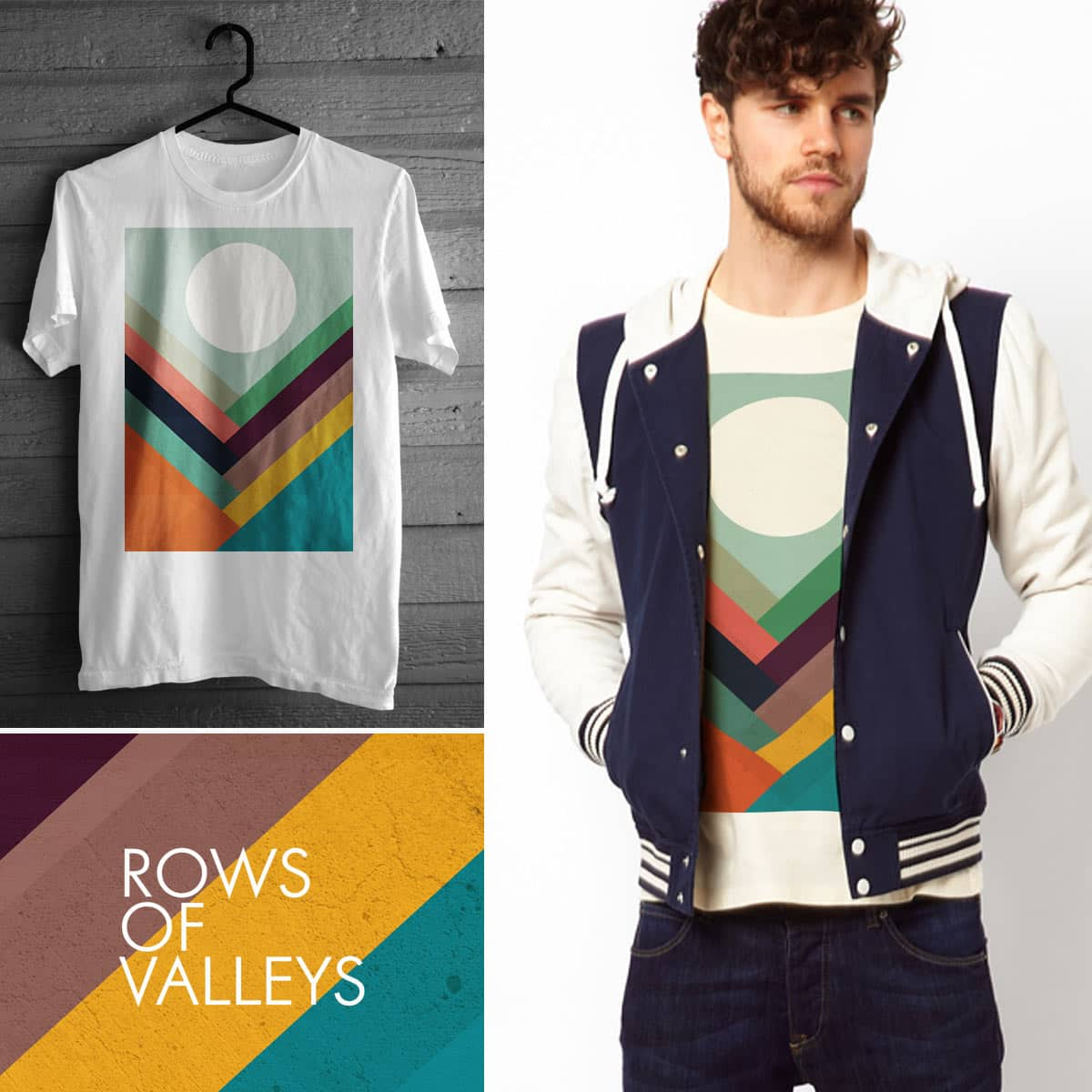Rows of Valleys by radiomode on Threadless