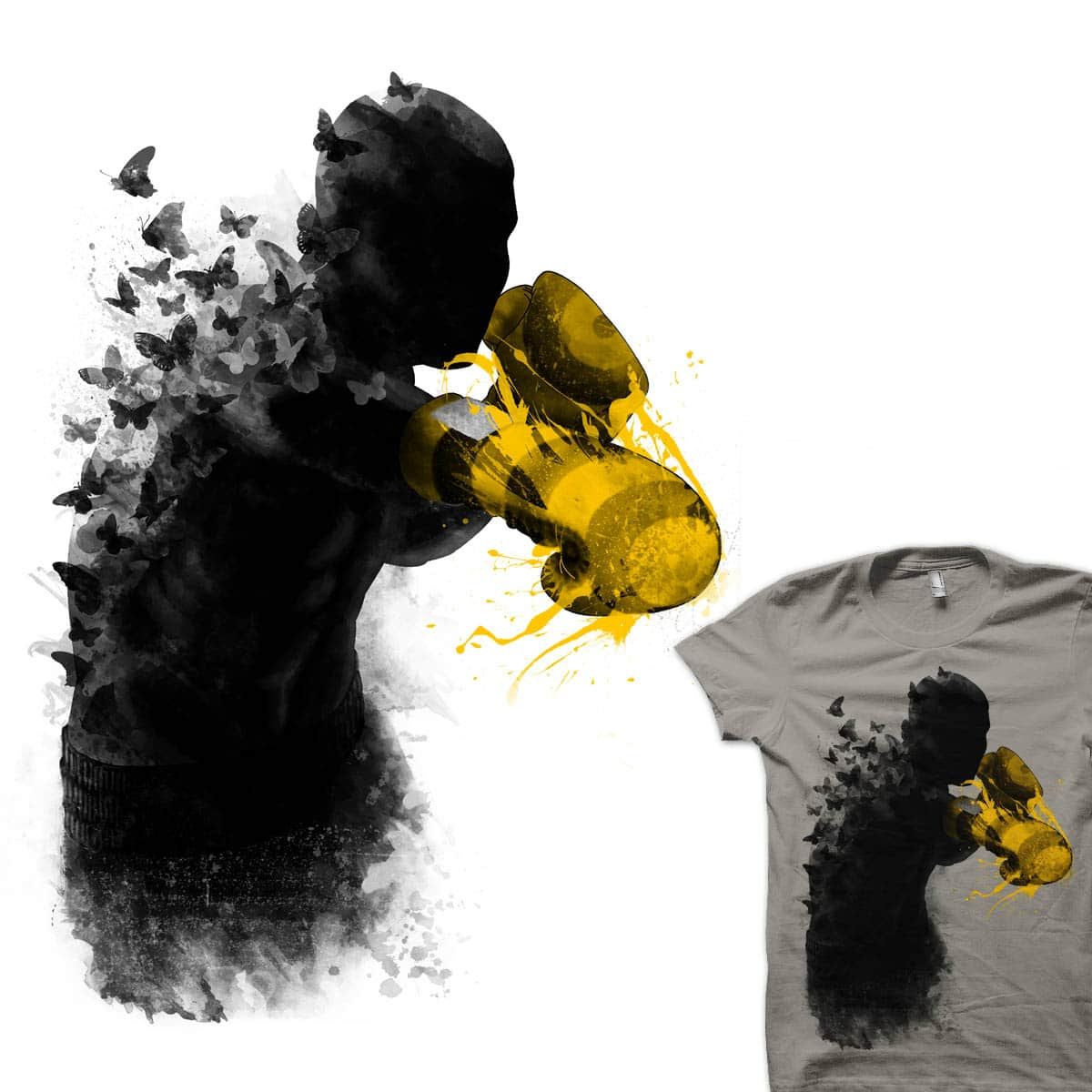 floating like a butterfly, sting like a bee by rejagalu on Threadless