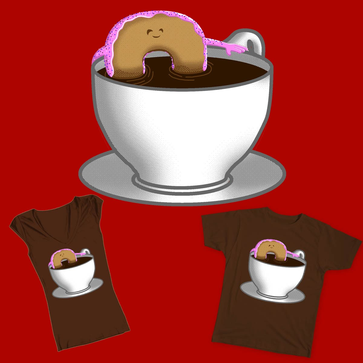 Dunkin' by Charles the Cat on Threadless