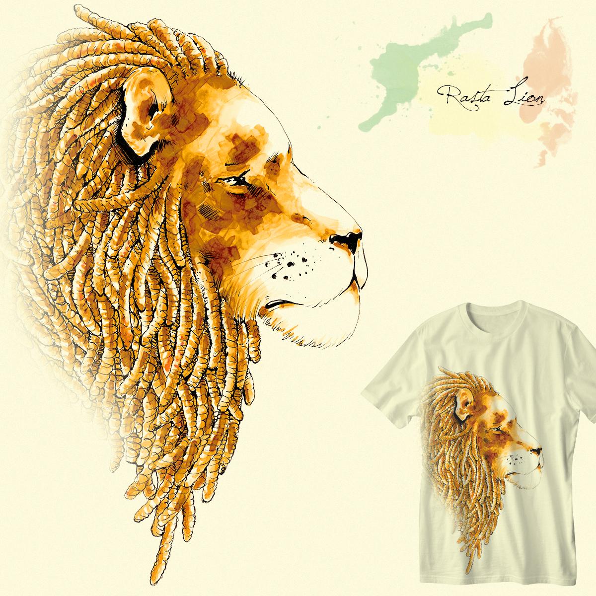 Rasta Lion by Shory on Threadless