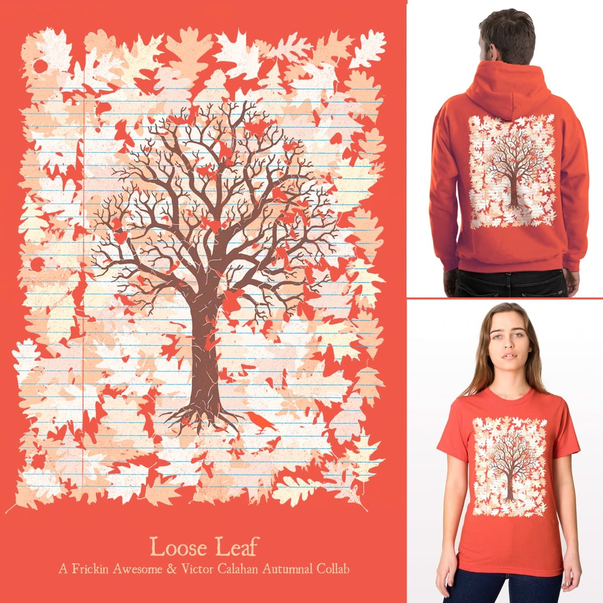 Loose Leaf by FRICKINAWESOME and v_calahan on Threadless