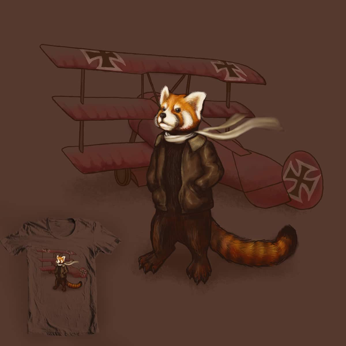 The Red Panda Baron by Pyne on Threadless