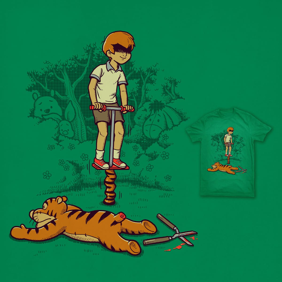 Jumping Stick by ben chen on Threadless