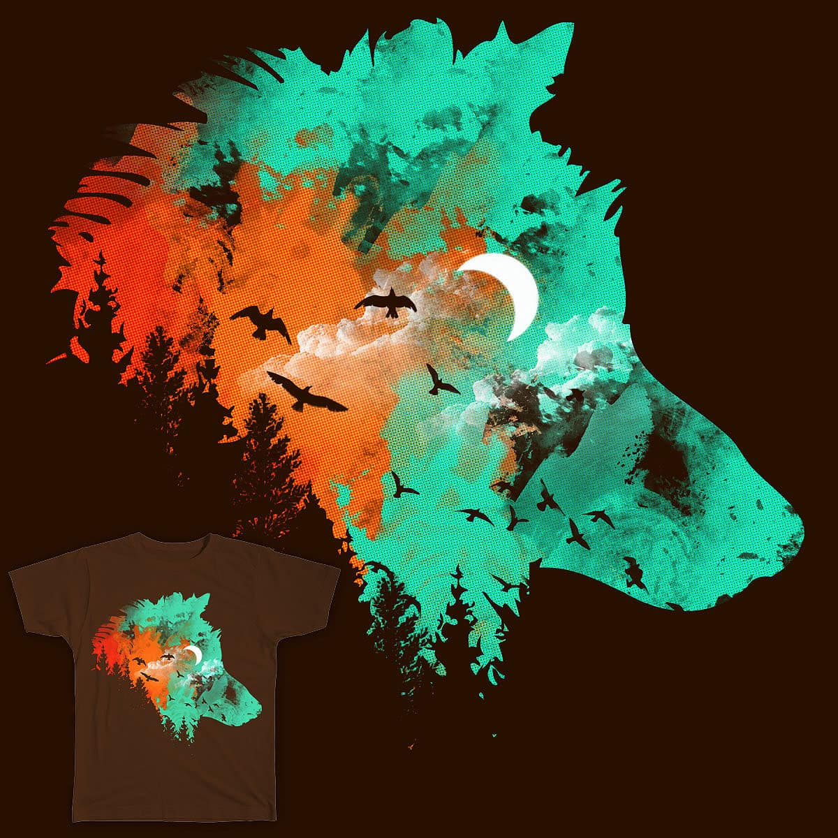 Midnight Wolf by Agimat ni Ingkong on Threadless