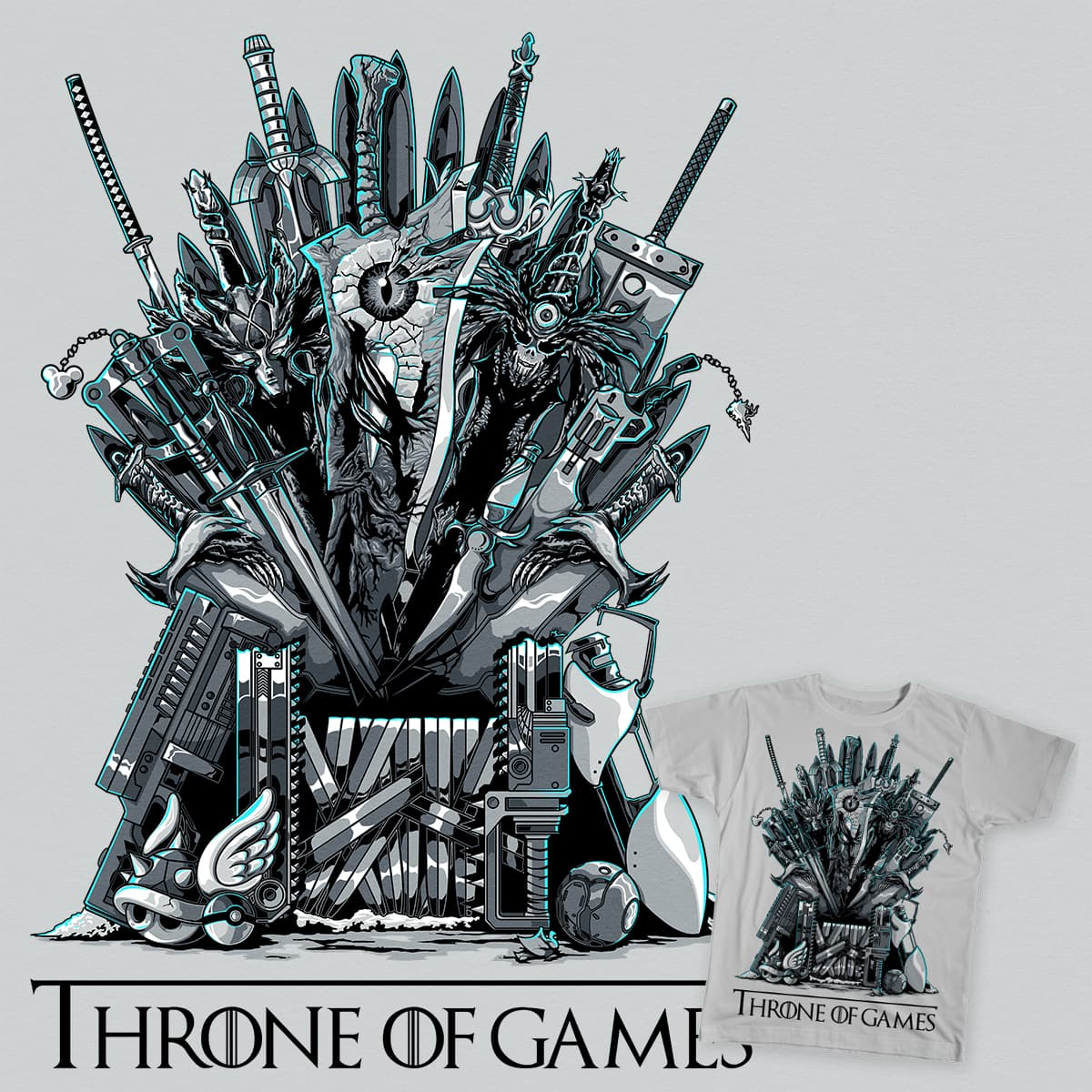 Throne of Games - You Win or You Die by GBIllustrations on Threadless