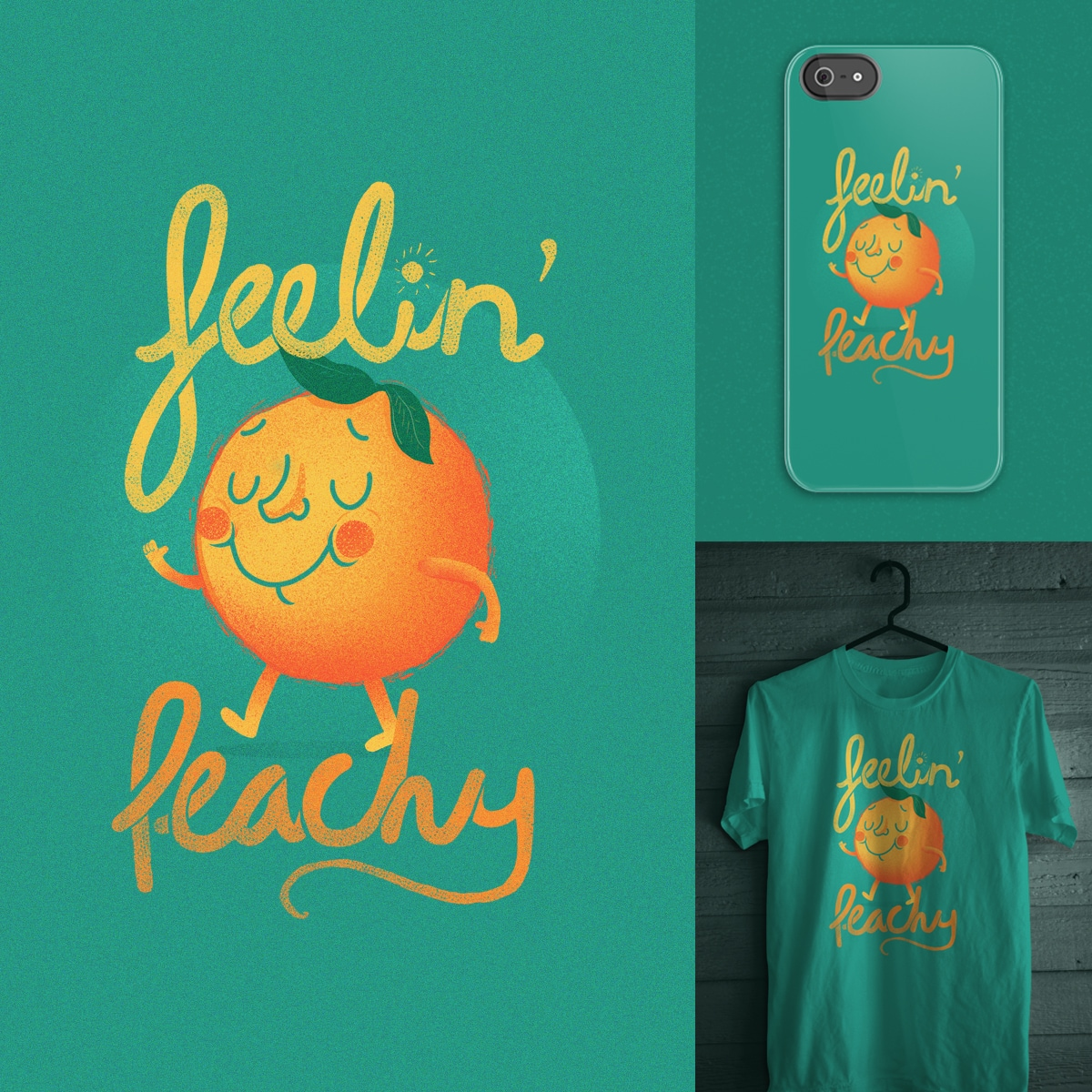 Feelin' Peachy by JIMDAHOUSECAT on Threadless