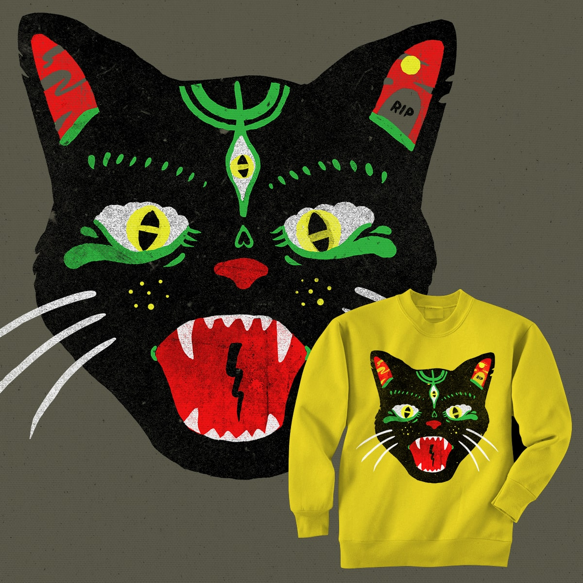 Hellcat by merkinspurlock on Threadless