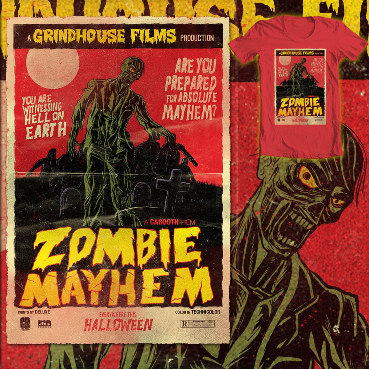 Zombie Mayhem by cabooth on Threadless