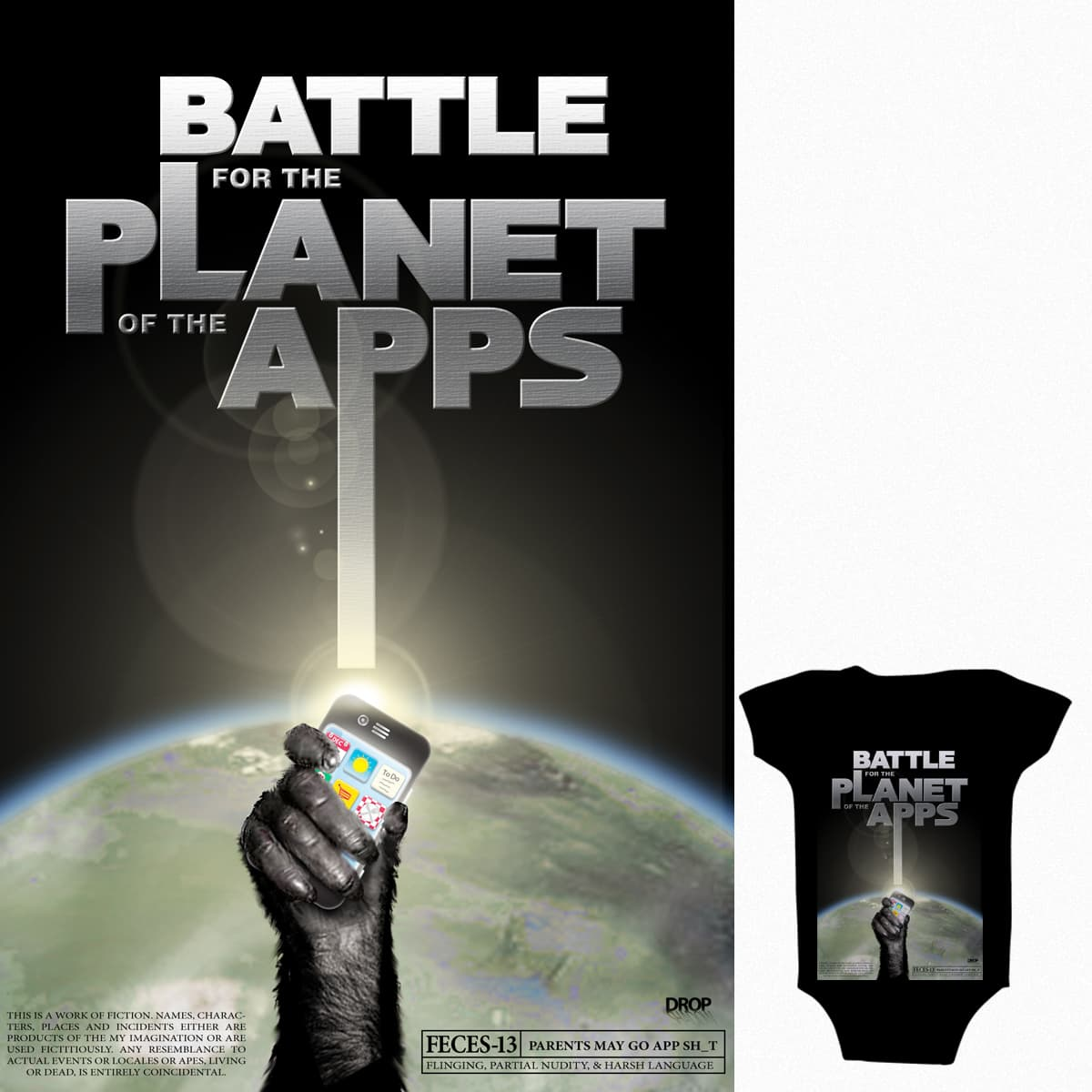 Battle for the Planet of the Apps by quochau66 on Threadless