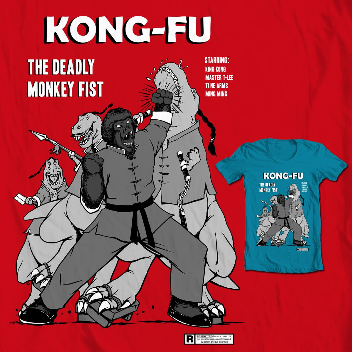 Kong-Fu by Doodle by Ninja! on Threadless