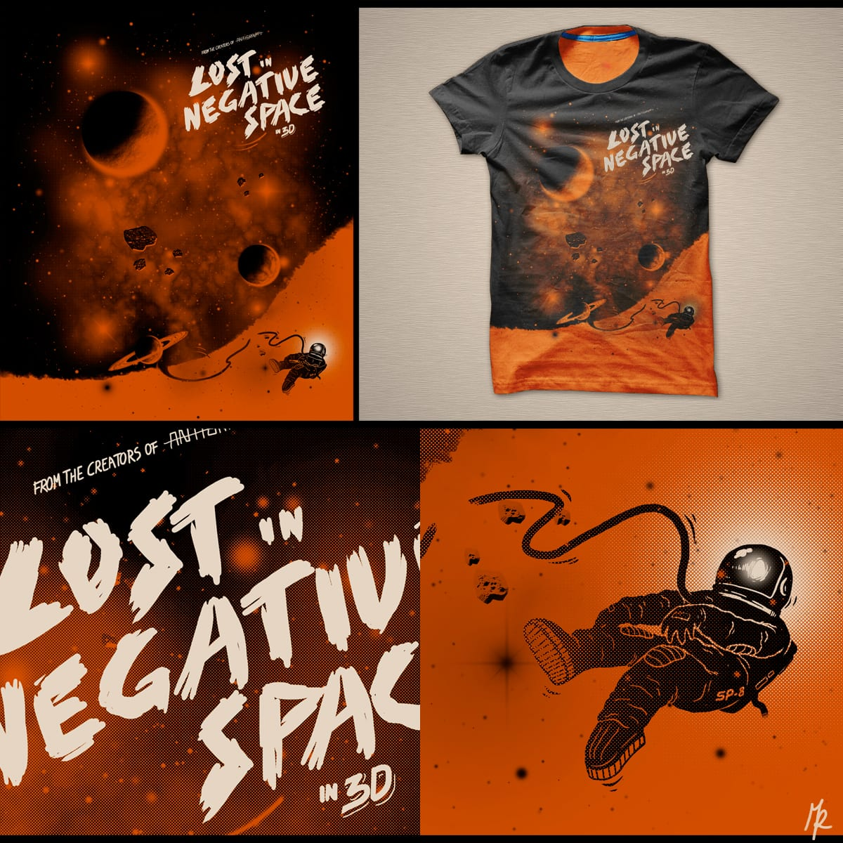 Lost in negative space by micheleficeli on Threadless