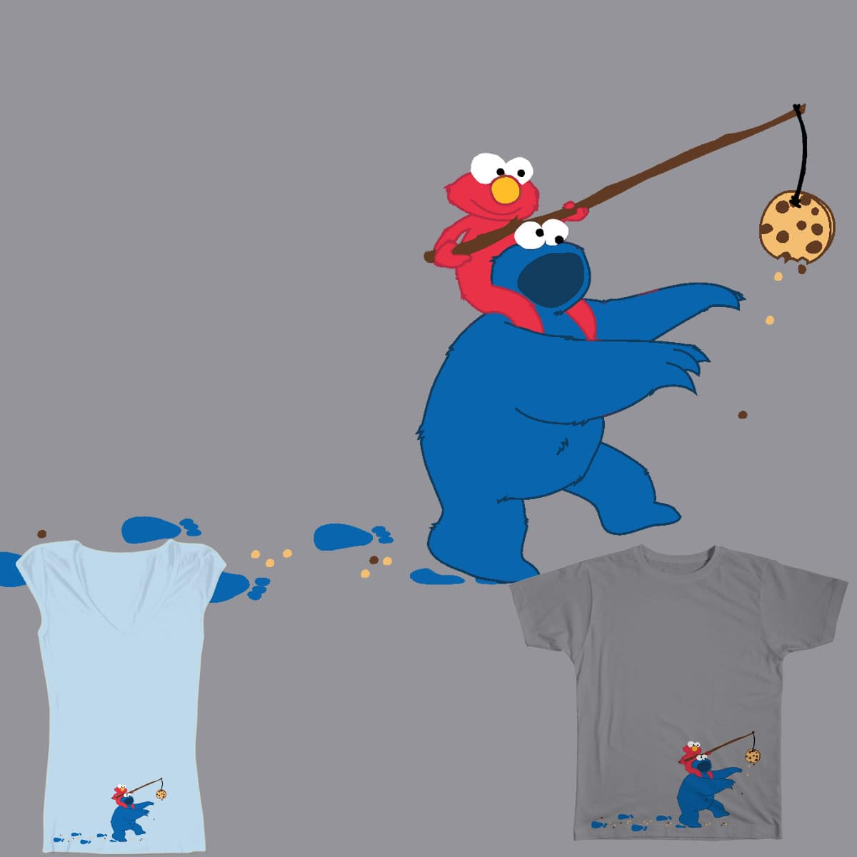 Cookie Monster Donkey by OneWeirdDude on Threadless