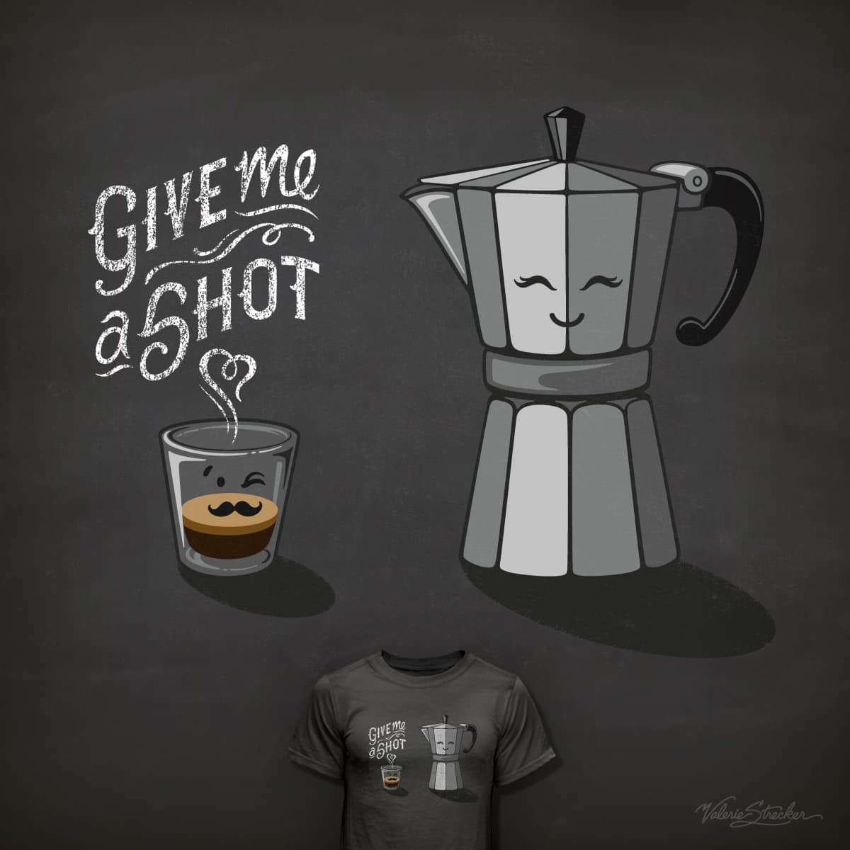 Give Me a Shot ;) by ValerieStrecker on Threadless