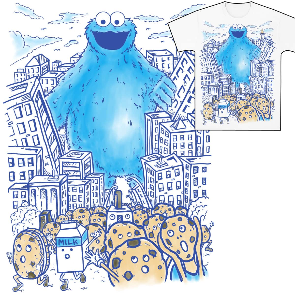Monster in the city by fathi on Threadless