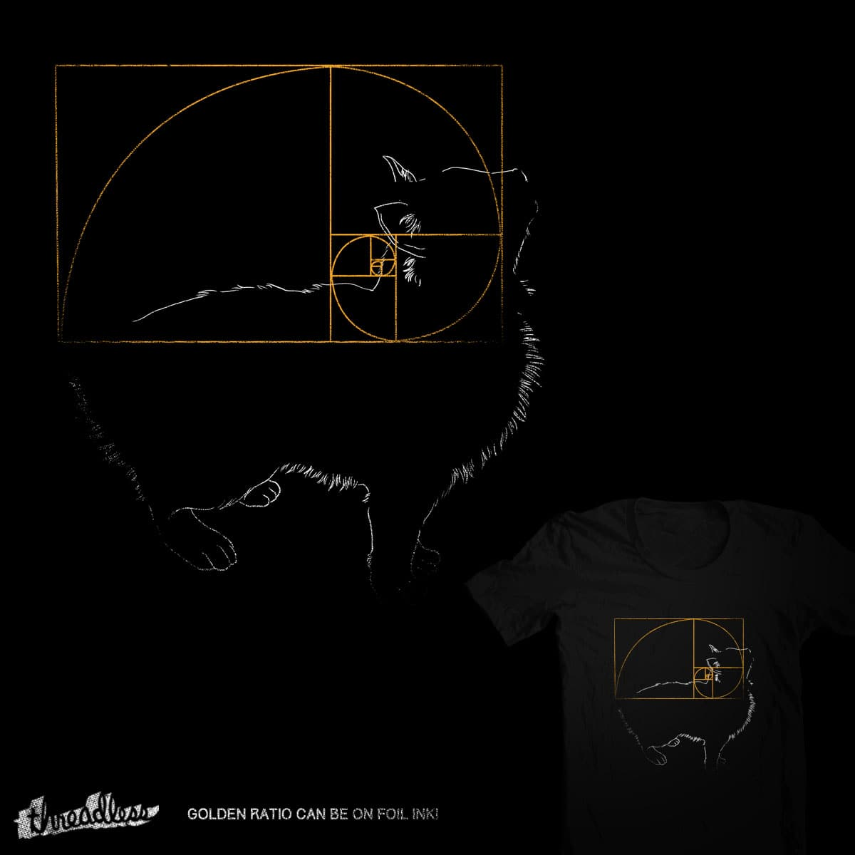 Golden Tail by tobiasfonseca on Threadless
