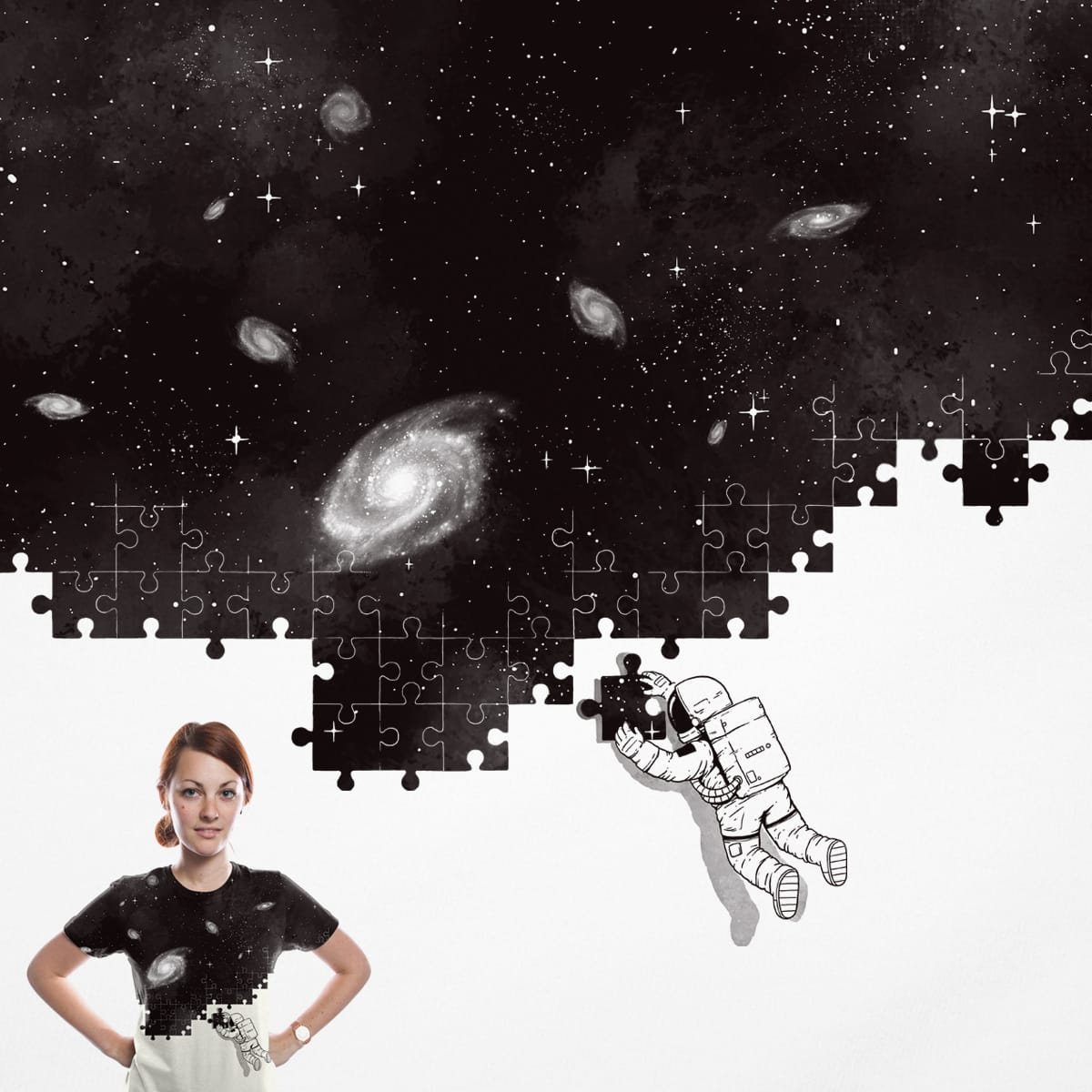 SOLVING THE BIG PUZZLE by temyongsky on Threadless