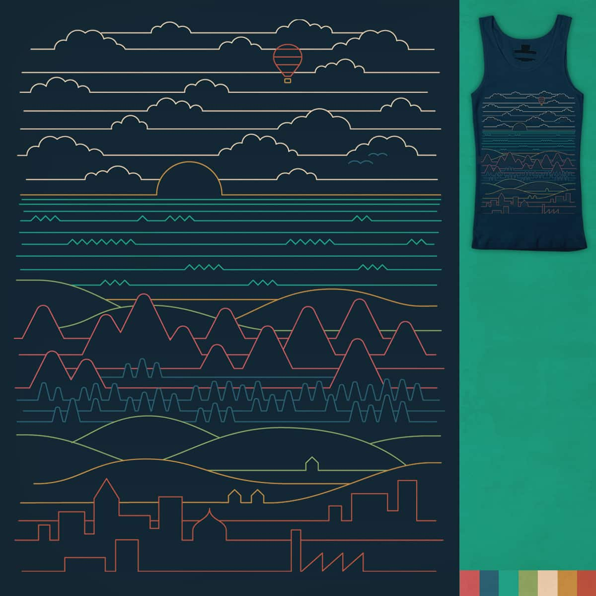 Linear Landscape by ThePaperCrane on Threadless