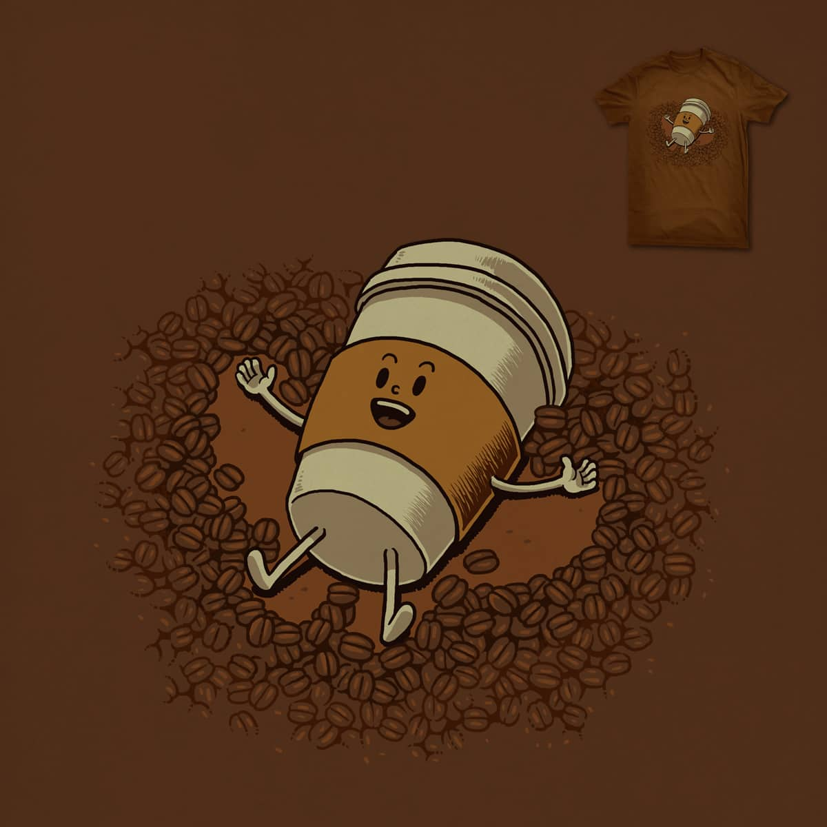 Snow Angel Of Coffee Beans by ben chen on Threadless