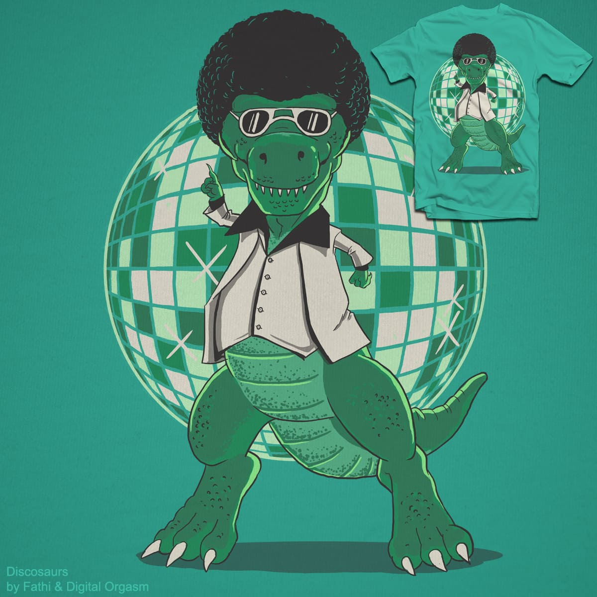 Discosaurs by fathi and digitalcarbine on Threadless