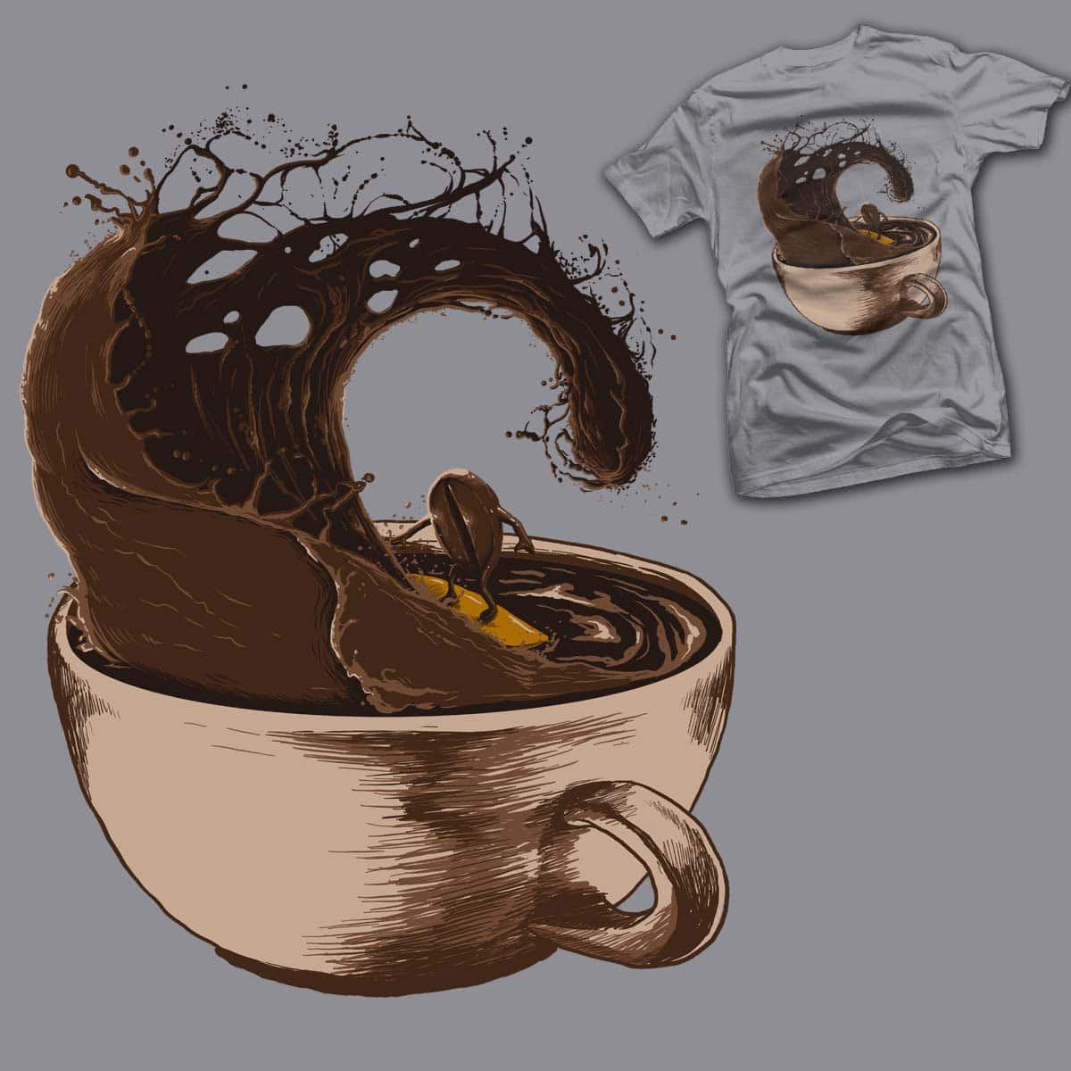 coffee surfing by bokien on Threadless