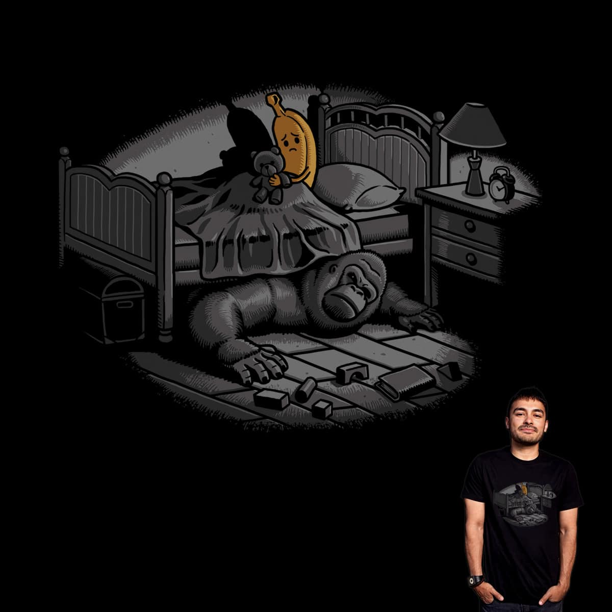 Monster Under The Bed by ben chen on Threadless