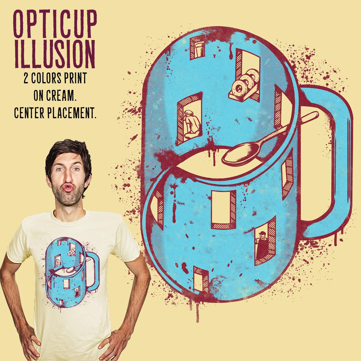 OptiCup Illusion by adam antium on Threadless