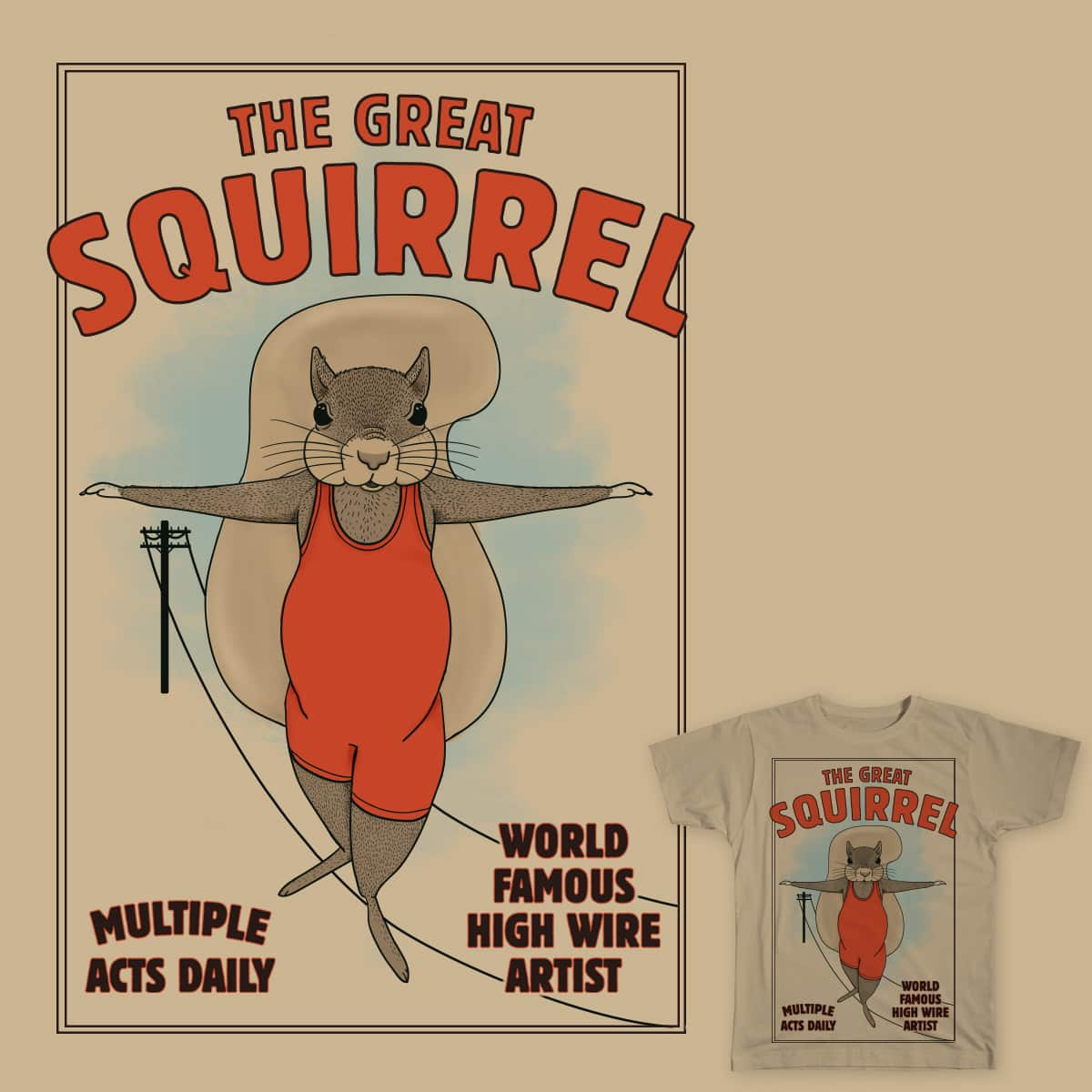 The Great Squirrel by murraymullet on Threadless