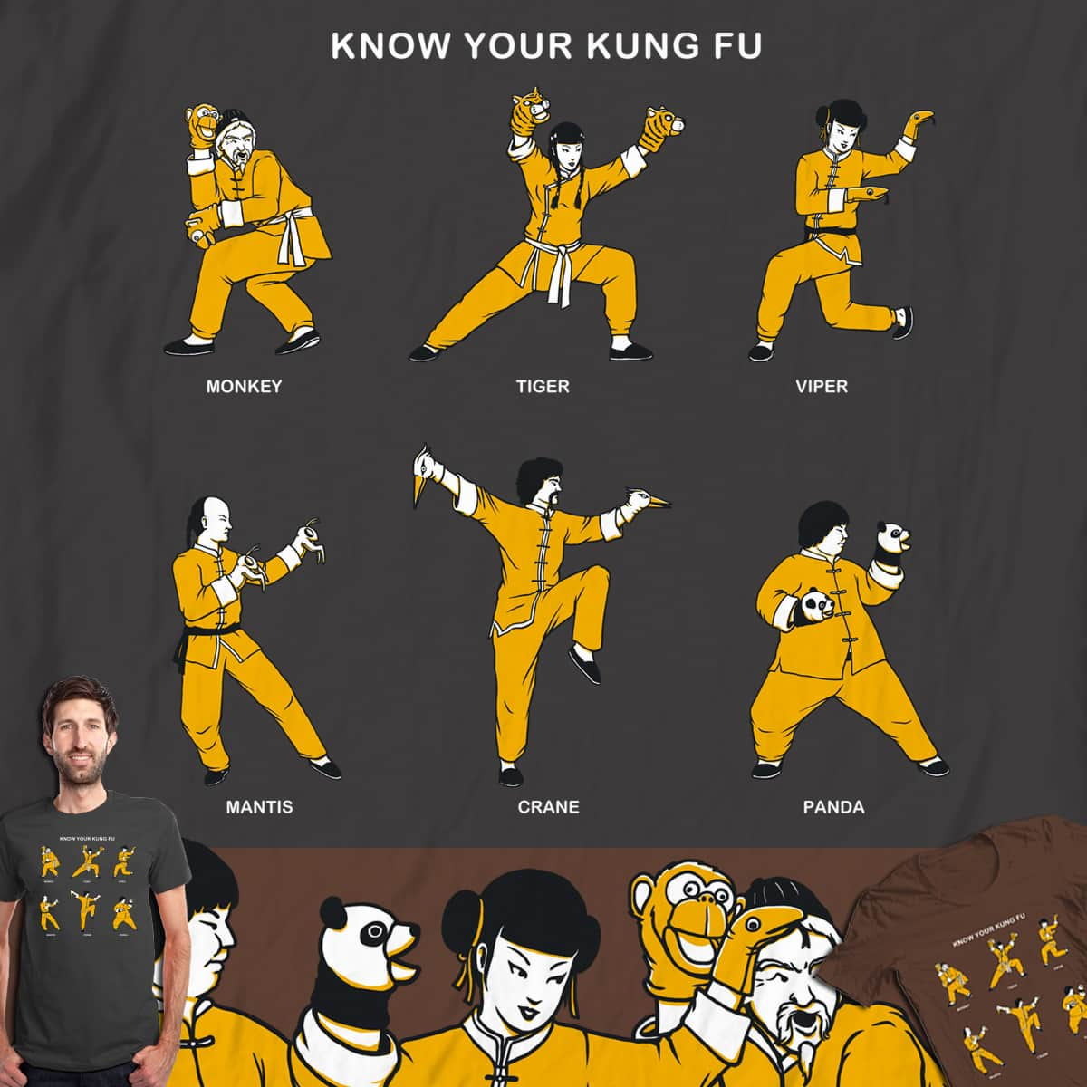 Know Your Kung Fu by Doodle by Ninja! on Threadless
